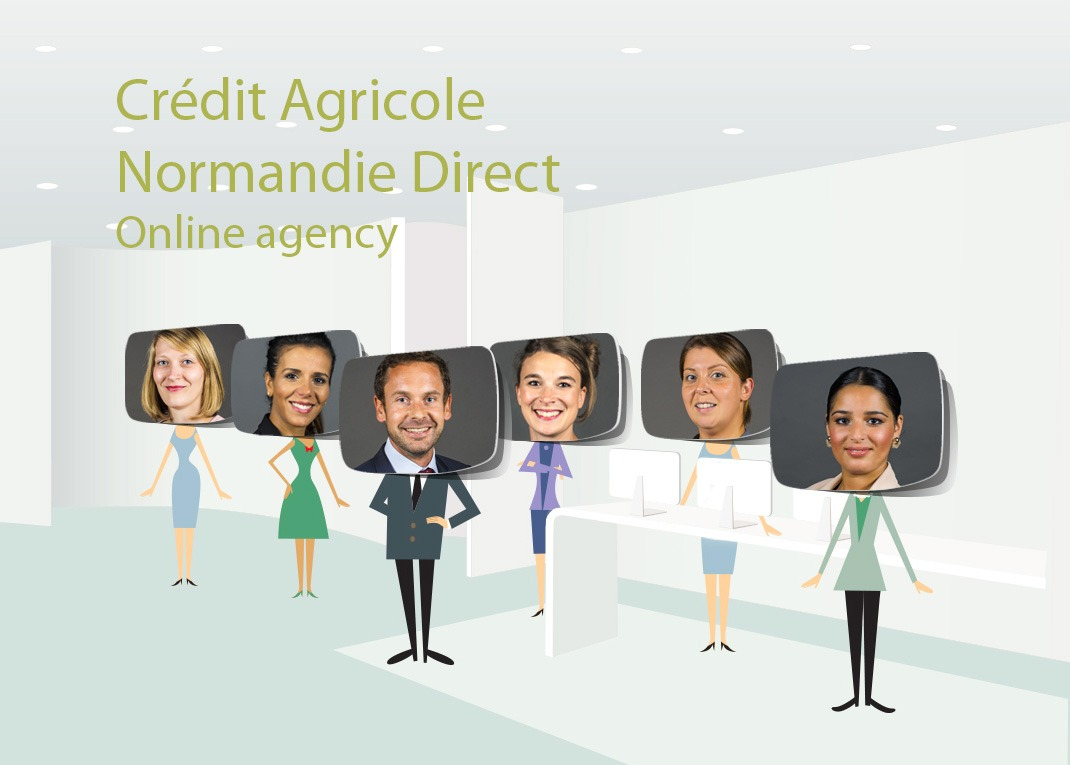 CA Normandie direct illustration