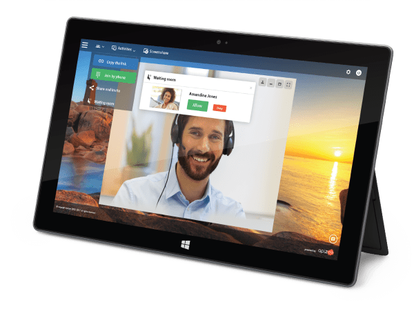 Link tablette windows conferencing video