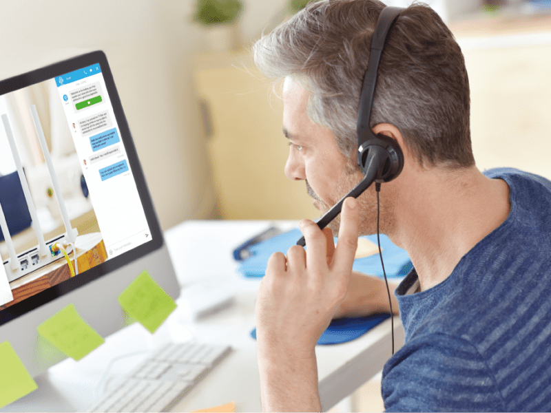 Video assistance for customer support - Visio-assistance support client
