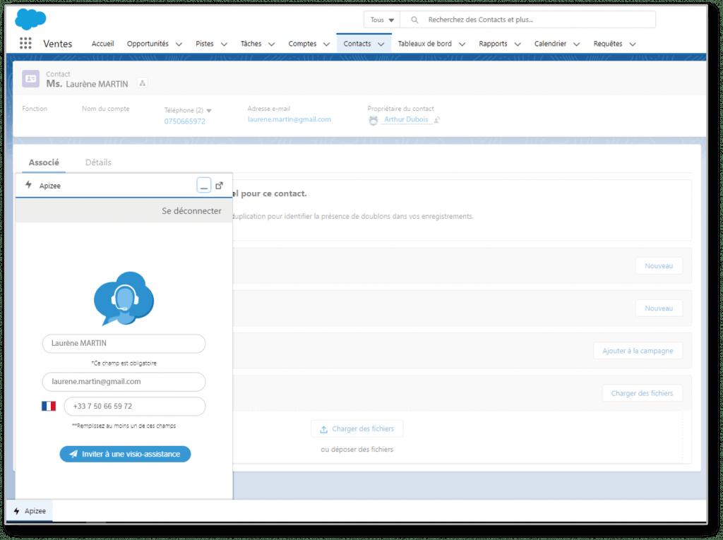 Apizee Salesforce intégration
