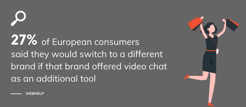 Étude Webhelp le chat vidéo comme outil supplémentaire